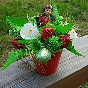 Цветы и флористика ручной работы. Ярмарка Мастеров - ручная работа Клубника из конфет, летний букет, подарок ребёнку, девочке, девушке. Handmade.
