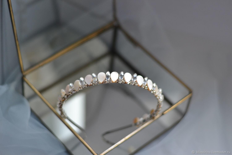 tiaras: Wedding diadem with mother of pearl, Tiaras, St. Petersburg,  Фото №1