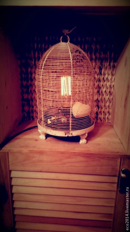 """Освещение ручной работы. Ярмарка Мастеров - ручная работа. Купить Настольная лампа """"Тайны прованса"""". Handmade. Лампа, клетка, медь"""