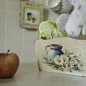 """Для дома и интерьера ручной работы. Ярмарка Мастеров - ручная работа короб для кухни """" любимые ромашки"""". Handmade."""
