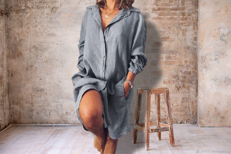 Платье-рубашка из хлопка, Платья, Орехово-Зуево,  Фото №1