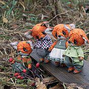 Куклы и игрушки ручной работы. Ярмарка Мастеров - ручная работа Семейство лисят. Handmade.