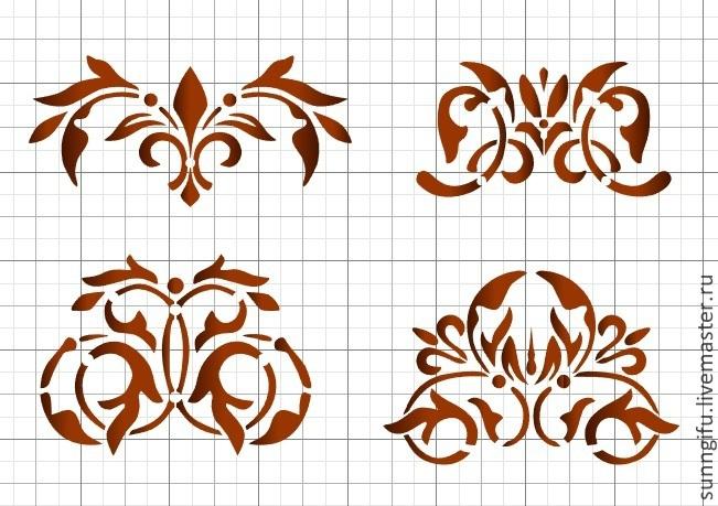 Трафареты для декора шаблоны вензеля