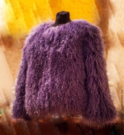 Верхняя одежда ручной работы. Ярмарка Мастеров - ручная работа. Купить Шубка из меха ламы. Handmade. Фиолетовый, мех натуральный