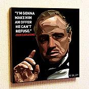 Подарки к праздникам handmade. Livemaster - original item Picture poster don Corleone in the style of Pop Art. Handmade.