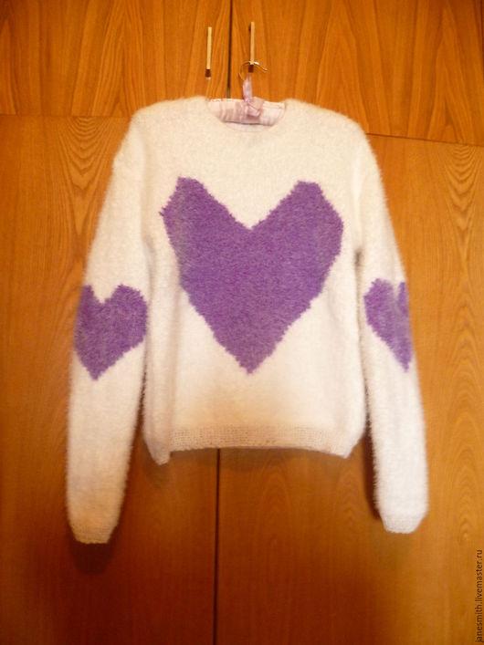 Кофты и свитера ручной работы. Ярмарка Мастеров - ручная работа. Купить вязаный свитер. Handmade. Бирюзовый, вязаная кофточка, мохер