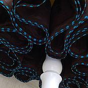 Одежда handmade. Livemaster - original item Cambric petticoat skirt chocolate and Curacao blue. Handmade.