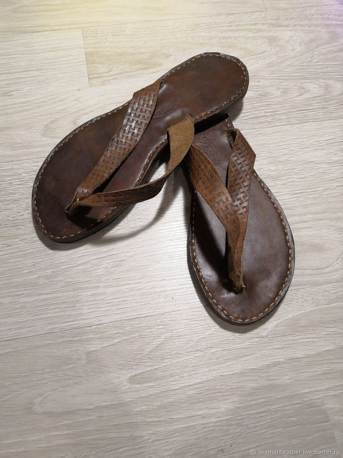 Handmade leather flip flops, Flip flops, Rostov-on-Don,  Фото №1
