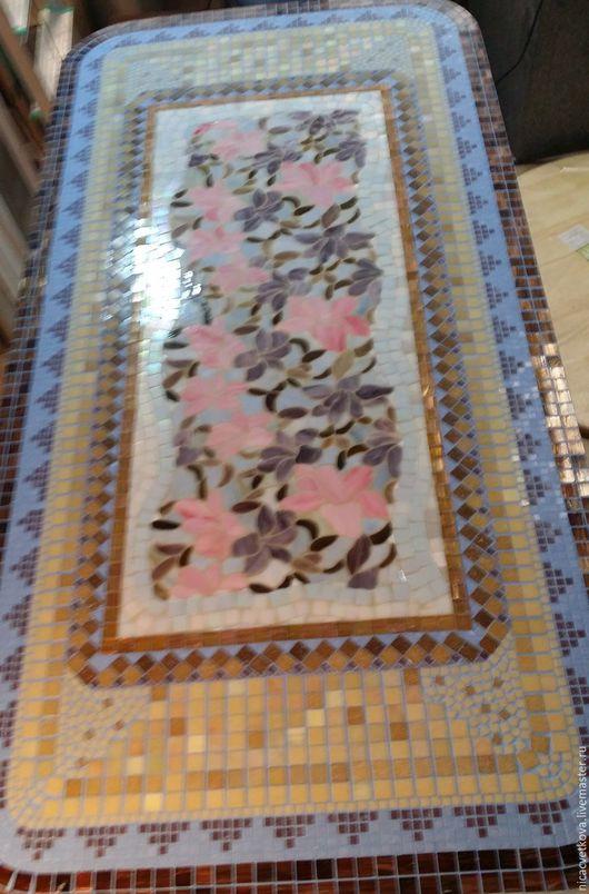 """Мебель ручной работы. Ярмарка Мастеров - ручная работа. Купить Стол обеденный """"Сад орхидей"""", мозаика. Handmade. Комбинированный, патио"""