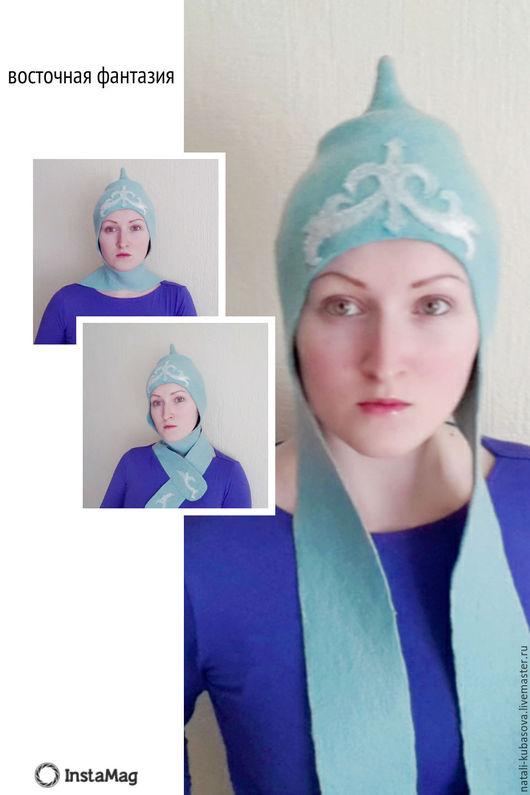 Шляпы ручной работы. Ярмарка Мастеров - ручная работа. Купить Шляпка Восточный мотив. Handmade. Шляпка женская, с длинными ушами