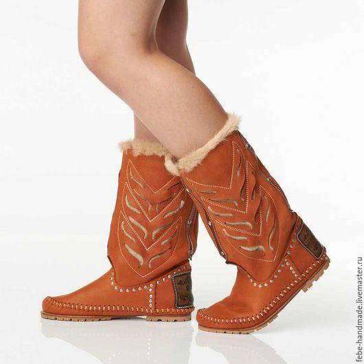 Обувь ручной работы. Ярмарка Мастеров - ручная работа. Купить Демисезонные полусапожки INDIANINI /рыжие/ 37;38;39 в наличие. Handmade. Рыжий