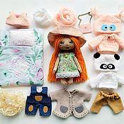 Куклы и игрушки handmade. Livemaster - original item :  Play doll, doll with clothes, textile doll with a set of clothes.. Handmade.