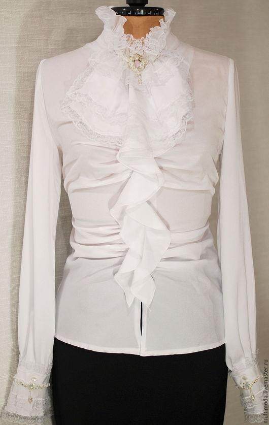 Блузки ручной работы. Ярмарка Мастеров - ручная работа. Купить Белая блузка трансформер. Весна. Скидка 20%. Handmade. Белый