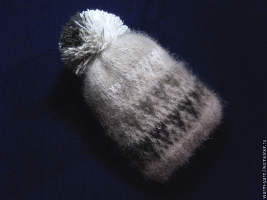 Шапки и шарфы ручной работы. Ярмарка Мастеров - ручная работа. Купить Шапка детская с помпоном из собачьей шерсти. Handmade.
