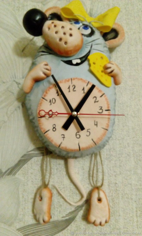 Часы - Мышка с сыром, Часы классические, Задонск,  Фото №1