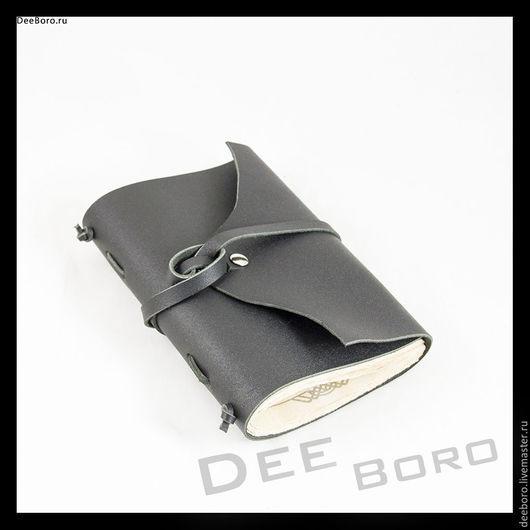 """Блокноты ручной работы. Ярмарка Мастеров - ручная работа. Купить Кожаный блокнот """"Йорен"""". Handmade. Черный, блокнот ручной работы"""