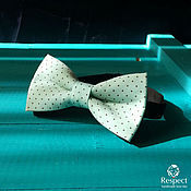Аксессуары handmade. Livemaster - original item Tie butterfly Delight / butterfly mint with brown polka dots. Handmade.