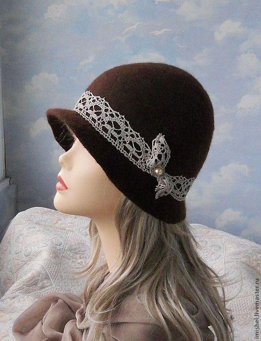 """Шляпы ручной работы. Ярмарка Мастеров - ручная работа. Купить шляпка """"Латте"""". Handmade. Валяные шляпки, войлочная шляпа"""