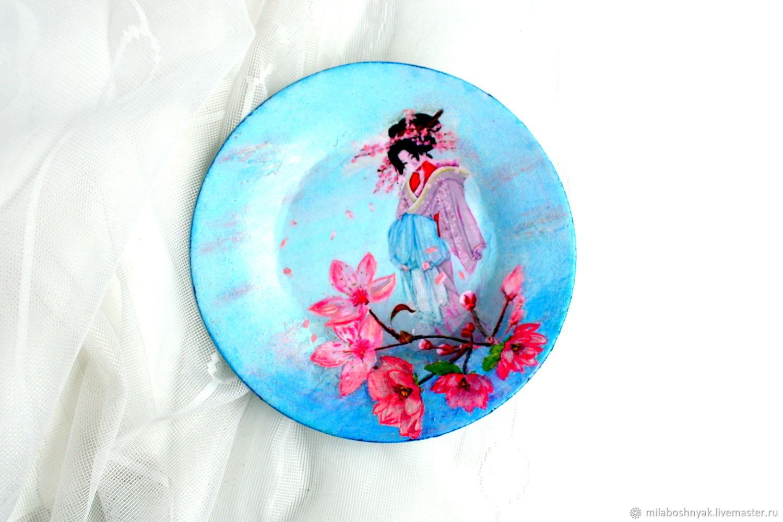 Тарелка декоративная «Японочка», Тарелки, Самара, Фото №1