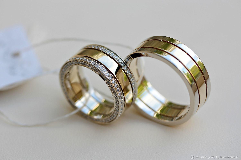 Свадебные украшения ручной работы. Ярмарка Мастеров - ручная работа. Купить  Торжественные обручальные кольца из 3743dbb0368