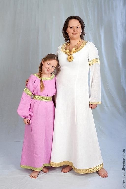 """Большие размеры ручной работы. Ярмарка Мастеров - ручная работа. Купить Платье """"Оранта"""" белое с золотом. Handmade. Белый"""