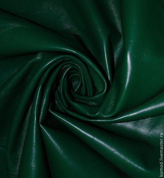 Шитье ручной работы. Ярмарка Мастеров - ручная работа. Купить Натуральная кожа. Травяной зеленый. Тонкая, мягкая овчина.. Handmade.