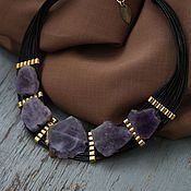 Украшения handmade. Livemaster - original item Bib Necklace Northern lights of amethyst. Handmade.