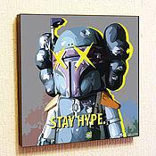 Картины и панно handmade. Livemaster - original item Picture Poster of Kaws Boba Fett in Pop Art Style. Handmade.
