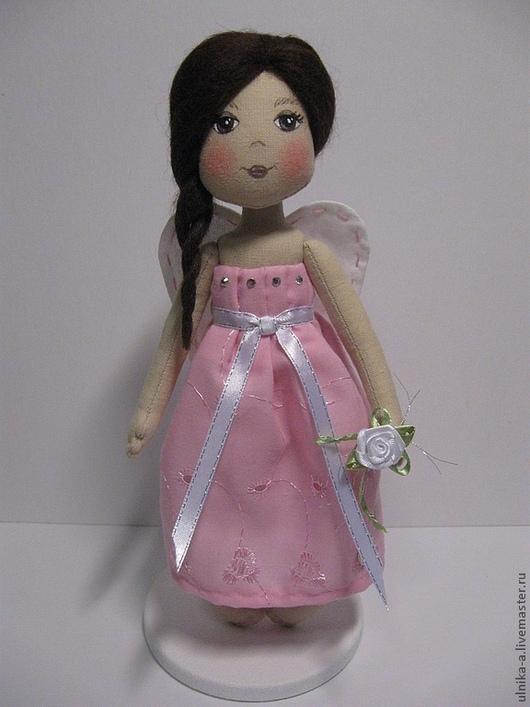 Сказочные персонажи ручной работы. Ярмарка Мастеров - ручная работа. Купить Розовый ангел. Handmade. Розовый, кукла интерьерная