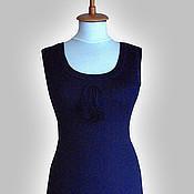 Одежда ручной работы. Ярмарка Мастеров - ручная работа Синий сарафан. Handmade.