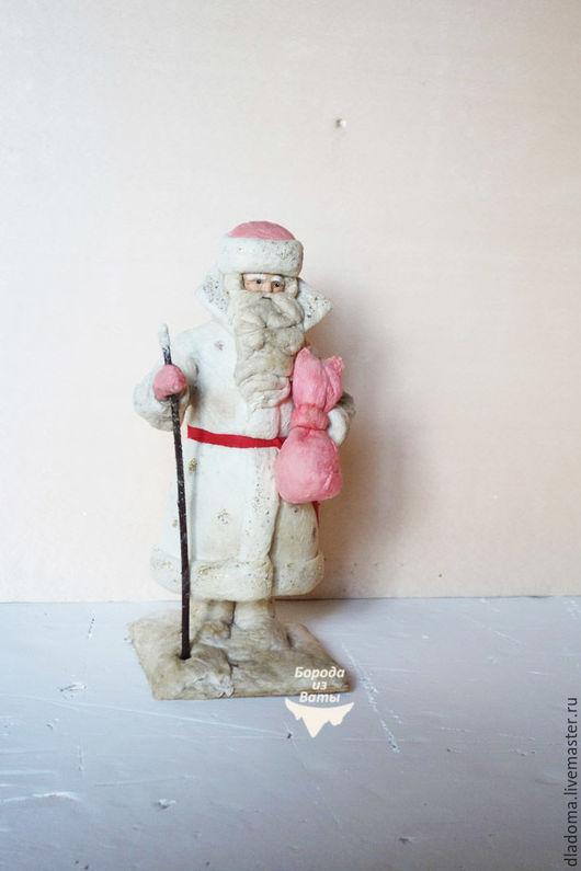Винтажные куклы и игрушки. Ярмарка Мастеров - ручная работа. Купить Дед Мороз ватный советский , Ярославль, №67 каталога. Handmade.
