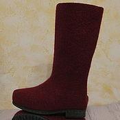 Обувь ручной работы. Ярмарка Мастеров - ручная работа Цена со скидкой. Готовая пара. Войлочные сапожки Клюква. Handmade.