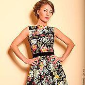 Одежда ручной работы. Ярмарка Мастеров - ручная работа Коктейльное платье  с цветочным принтом. Handmade.