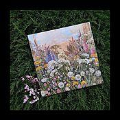 """Картины ручной работы. Ярмарка Мастеров - ручная работа Картина """"Луговые цветы"""". Handmade."""