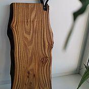 Посуда handmade. Livemaster - original item Cutting boards: Elm with leather trim. Handmade.