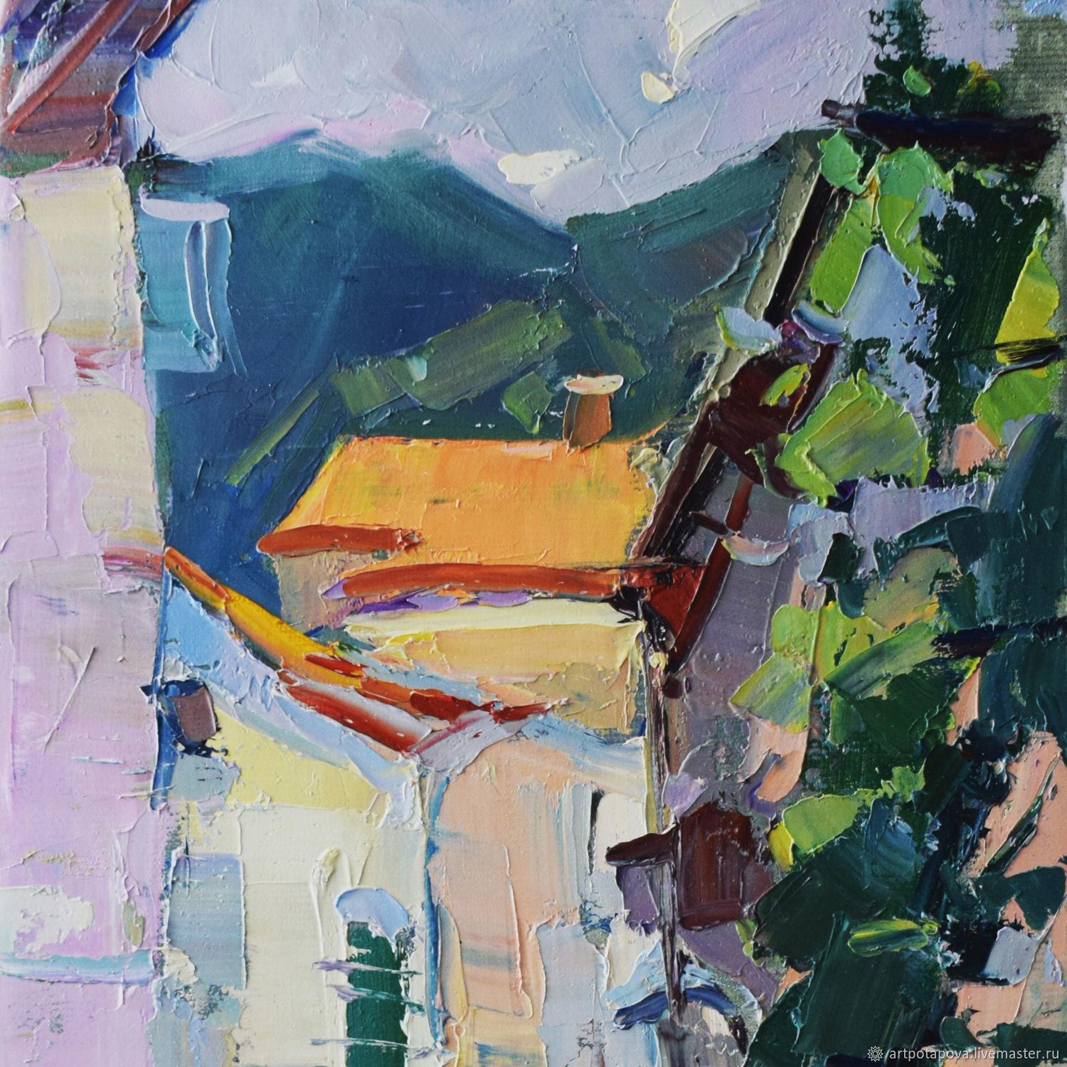 Oil painting a STREET in KOTOR, Pictures, Smolensk,  Фото №1