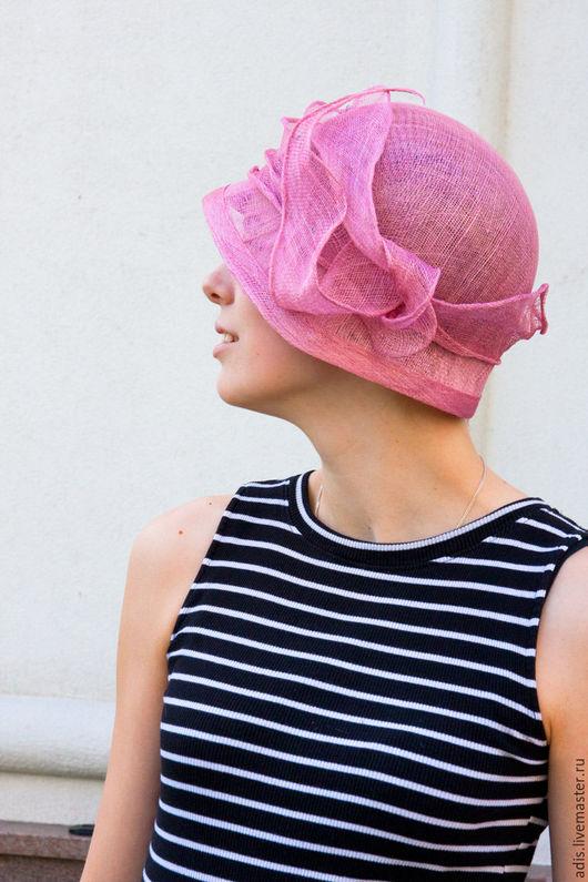 Шляпы ручной работы. Ярмарка Мастеров - ручная работа. Купить Шляпка соломенная «роза артнуво». Handmade. Бледно-розовый