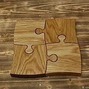 Посуда handmade. Livemaster - original item Serving board Puzzle. Handmade.