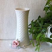 Винтажные предметы интерьера ручной работы. Ярмарка Мастеров - ручная работа Фарфоровая белая ваза Royal Bavaria. Handmade.