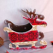 Подарки к праздникам handmade. Livemaster - original item Sani - bowl for sweets nuts cookies a Winter`s tale. Handmade.