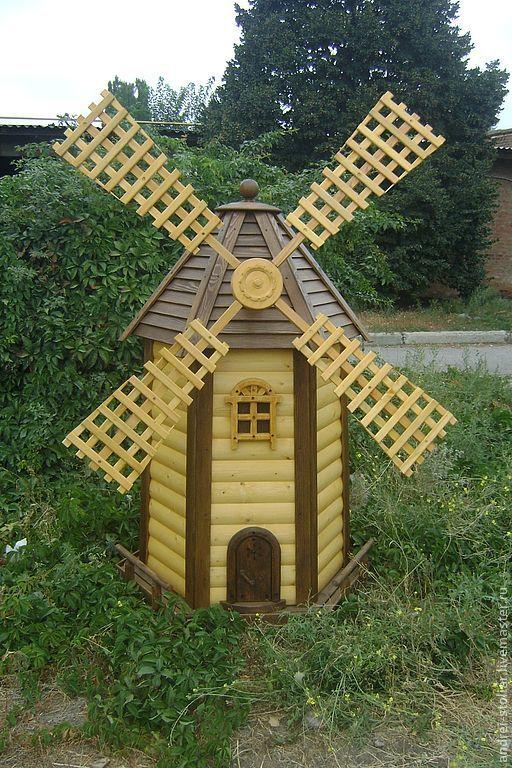 Мельница своими руками для сада - лучшие идеи,…