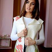 Одежда handmade. Livemaster - original item Long vest made of thin felt