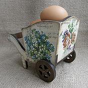 """Для дома и интерьера ручной работы. Ярмарка Мастеров - ручная работа Конфетница-тележка """"Цветущий сад"""". Handmade."""