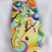 """Для дома и интерьера ручной работы. Ярмарка Мастеров - ручная работа Часы """"Яркое Мяу"""". Handmade."""