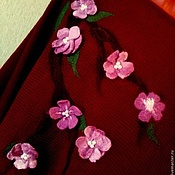 """Одежда ручной работы. Ярмарка Мастеров - ручная работа Пончо """"Цветущая сакура"""". Handmade."""