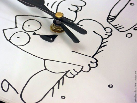 """Часы для дома ручной работы. Ярмарка Мастеров - ручная работа. Купить Часы настенные """"Покорми меня"""". Handmade. Часы настенные"""