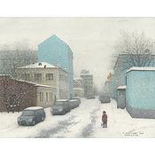 Картины и панно handmade. Livemaster - original item Poster room interior Moscow Uspensky lane. Handmade.