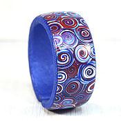 Украшения handmade. Livemaster - original item Bracelet from polymer clay - Freedom (red, blue, white). Handmade.