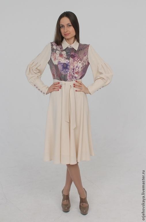 """Платья ручной работы. Ярмарка Мастеров - ручная работа. Купить Платье """"Сказка""""из шерстяного крепа. Handmade. Белый, зимняя мода"""