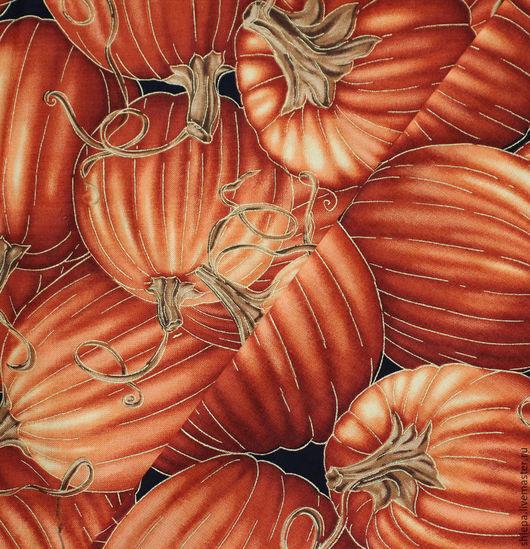 Шитье ручной работы. Ярмарка Мастеров - ручная работа. Купить Ткань для пэчворка Harvest. Handmade. Рыжий, золото, ткань для рукоделия